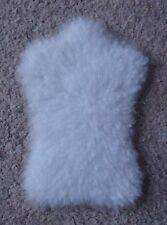 1:12 scale White Sheepskin Rug for dolls house (very realistic)