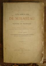 GASTINEAU (Benjamin). - Les amours de Mirabeau et de Sophie de Monnier