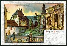 Litho / Lithografie KÖLN St. Maria im Kapitol (Kirche vor 1900) gez Paul Matthes