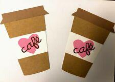 Die Cut Coffee Cup Scrapbook Paper Piecing