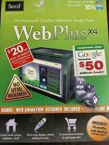 Serif Web Plusx4 Professional Quality Website Made Easy SEALED New