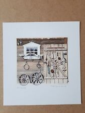 Horse riding tackle shed original limited edition print