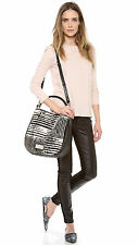 $528 Marc By Marc Jacobs Black Too Hot To Handle Haircalf  Hobo Crossbody Bag