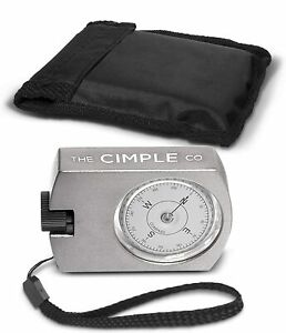 Handheld Compass with Azimuth & Case - Aluminum Navigation Compass
