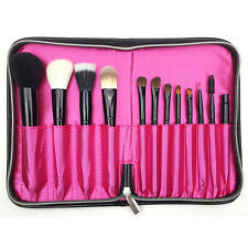 12 Slots Pro Cosmetic Bag Makeup Brushes  Pencil Case Holder Roll Bag Pouch