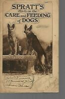 A- VINTAGE 1930s Spratt's Hints on Care and Feeding of Dogs Book Photos Products