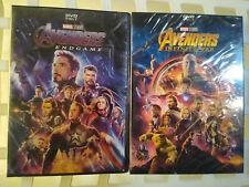 Avengers Infinity War and End game 2-DVD Avenger 3-4 movie Marvel Brand New