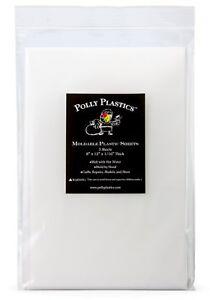 Polly Plastics Heat Moldable Plastic Sheets - 3 Sheets 8 x 12 x 1/16