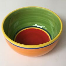 "Dansk Caribe Medium Mixing Bowl 8"" 1quart Orange Green Red EUC!"