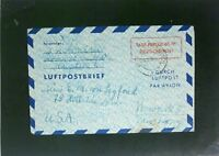 Germany 1950 60Pf Taxe Percue Letter Cover to USA (I) - Z2472