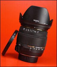 Sigma DC 18-50mm F2.8 EX Macro HSM Lens - Nikon Fit + Front & Rear Caps + Hood