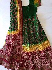 Wedding Lehenga, Jaipuri bandhej with gota patti embroidery (worn once)