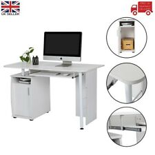 Computer Desk Office Study Laptop PC Table Workstation with Door Keyboard Tray