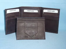 LOS ANGELES KINGS    Leather TriFold Wallet    NEW    dkbr 3  m1