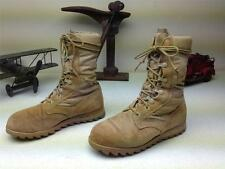 DISTRESSED DESERT COMBAT MILITARY PARATROPER LACE UP FIELD BOOTS SZ 3.5 XW