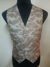 *TAKASHIMA* -RARE- NEW-MENS 100% PURE SILK VEST WITH LAPELS MADE IN ENGLAND 42R