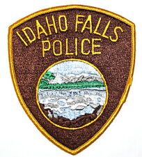 IDAHO FALLS IDAHO ID Sheriff Police Patch RIVER WATERFALL MOUNTAINS ~