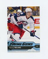 16/17 UPPER DECK YOUNG GUNS ROOKIE RC #228 SONNY MILANO BLUE JACKETS *41665