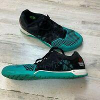 Reebok Crossfit Mens size 11.5 Teal Black Nano 4.0 CF74 Training Athletic Shoe