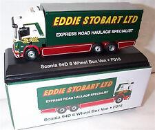 EDDIE STOBART SCANIA 94D 6 WHEEL BOX VAN F018 1:76 New Boxed