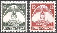 DR Nazi 3rd Reich Rare WW2 STAMP 1935 Swastika Eagle Nazi Congress in NURENBERG