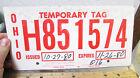 OHIO+temporary+tag+License+plate%2C+cardboard%2C+Mcclure+motors%2C+exp+1980%2C+H851574