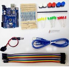 Arduino Starter Kit UNO R3 Breadboard LED Dupont cable Resistors USB cable