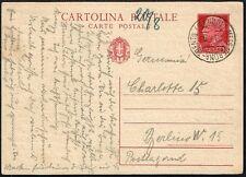 1681 ITALY TO GERMANY PS STATIONERY POSTAL CARD 1939 MESS VERONA-TRENTO - BERLIN