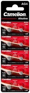 10 Stück Camelion AG4  Knopfzellen Uhrenbatterien Knopf Zellen LR626 LR66 177