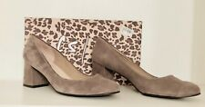French Sole Womens TRANCE Suede Round Toe Classic Pumps, Taupe Suede, Size 11.0
