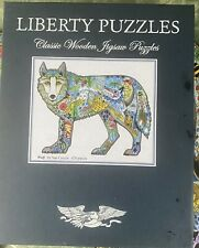 LIBERTY WOODEN JIGSAW Wolf By Sue Coccia 420 Pieces