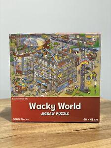 Wacky World - Construction Site 1000 Piece Jigsaw Puzzle 68cm x 48cm