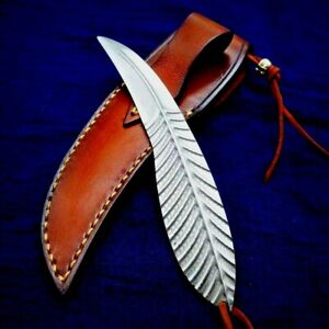 Karambit Claw Knife Feather Hunting Combat Tactical Damascus Steel Collectible S
