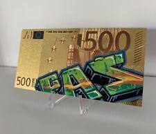 """Billet 500€ 24k  Creation par Un Artiste """"passé"""""""