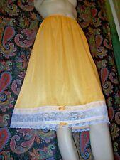 Vintage Henson Kickernick Sunshine Nylon Lacy A-line Half Slip