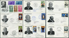 1966 CHURCHILL FRENCH COLONIES FIRST DAY COVERS FDCs 9 ILLUSTRATED ENVELOPES