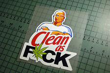 MR.CLEAN AS FCK Sticker Decal Vinyl JDM Drift Euro Lowered illest Fatlace