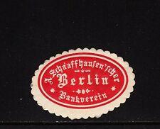 402885/ Siegelmarke - A. Schaffhausen´scher Bankverein - Berlin