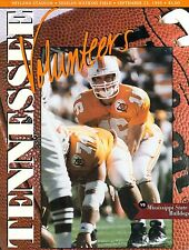 1995 Tennessee Gameday Program-Tennessee Vs Mississippi State Bulldogs