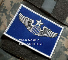 USAF FLIGHT SUIT NAME TAG: Custom Embroidered pilot NAME-CALL SIGN as ordered