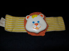 Vintage Fisher Price 1990 LION WRIST BAND RATTLE 1487 YELLOW/ORANGE ANIMAL USED
