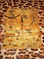 CATALOGUE VENTE ARTCURIAL - TABLEAUX ANCIENS, MOBILIER ET OBJETS D'ART