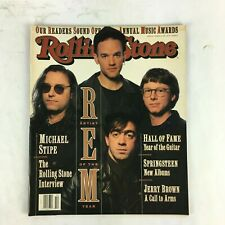 March 1992 Rolling Stone Magazine REM Artist of the Year Michael Stipe