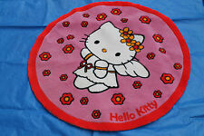 Hello Kitty Teppich Kinderteppich rund 1 mtr. rot pink Kitty als Engel
