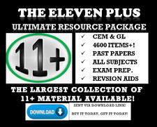 11 + ELEVEN PLUS 4600+ EXAM TEST PAPERS & PREPARATION PACKAGE *DOWNLOAD* 👍