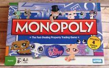 LITTLEST PET SHOP MONOPOLY BOARD GAME 2008 W 4 PETS, NEW IN OPEN BOX