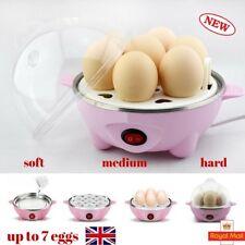 Egg Steamer Boiler Electric Boiled Egg Maker Poacher Max 7 Eggs Pink BP01