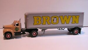 FIRST GEAR --  MACK  --  B - 61  --  BROWN  TRANSFER