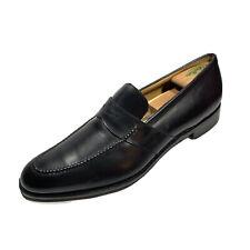 SALVATORE FERRAGAMO Classic Black Leather Penny Loafer Mens Shoe 13 D