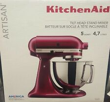 KITCHENAID 5QT ARTISAN TILT HEAD STAND MIXER BORDEAUX KSM150PSBX NEW SEALED BOX